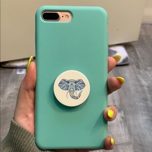 Accessories - Blue silicone iPhone case